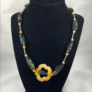Adventurine & blue tigerseye necklace